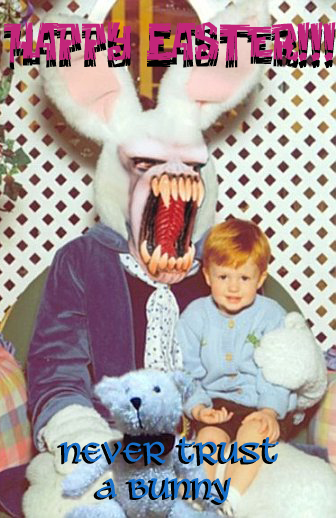 happy easter from scary bunny    easter    myniceprofile com