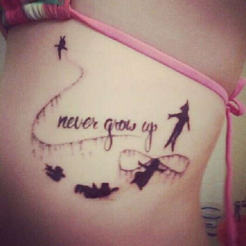 """Never Grow Up"" Tatoo :: Quotes :: MyNiceProfile.com"