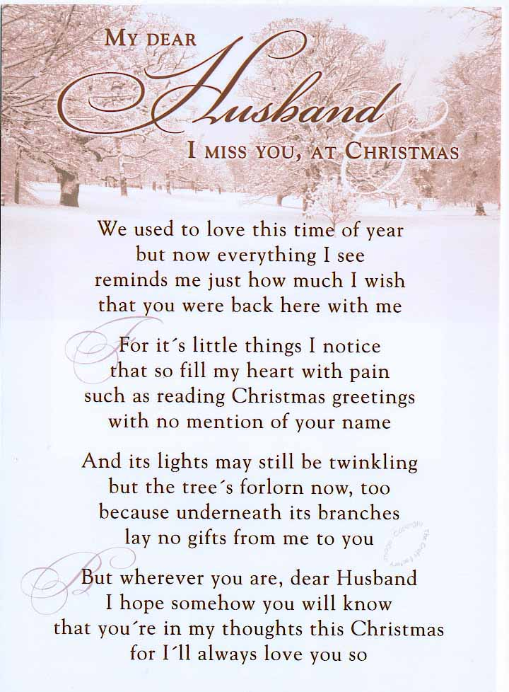My Dear Husband I miss You, at Christmas :: Miss You