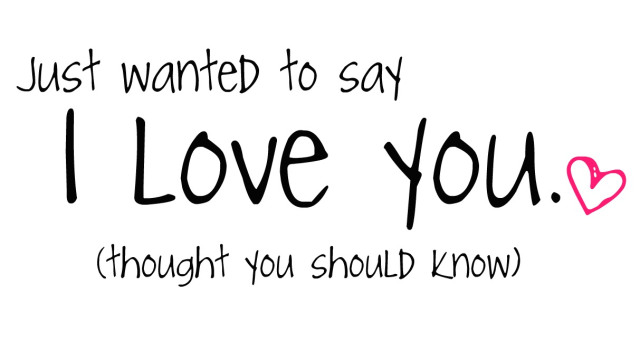 just by say i love you: