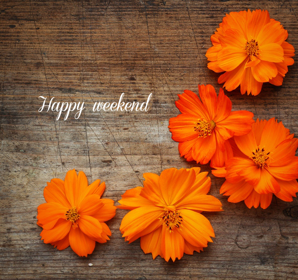 happy weekend orange flowers days weekend