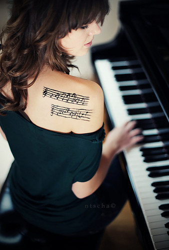 I love Music--Girl Tattoo :: Music :: MyNiceProfile.
