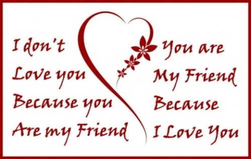 Friendship Quotes Love Pinterest: You Are My Friend Because I Love You... :: Friends