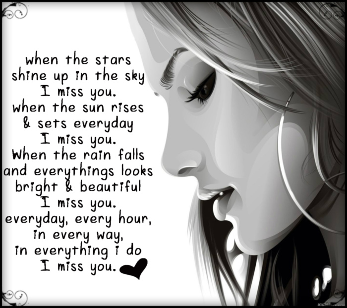 I Love You And Miss U Quotes: I Miss You -- Quote :: Miss You :: MyNiceProfile.com