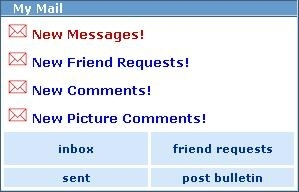 Myspace New Messages :: Myspace :: MyNiceProfile.com