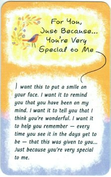 for you just because youre very special to me