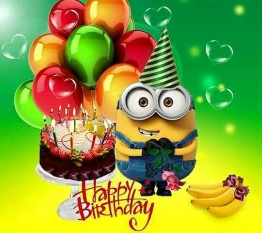 Поздравление с днем рождения миньоны
