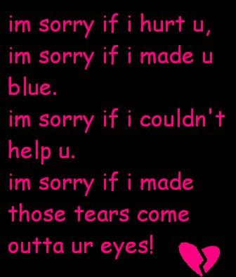 i am sorry poems for husband