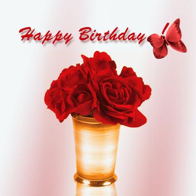 happy birthday rose bouquet MEMEs