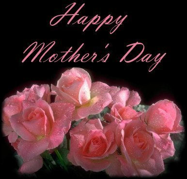 Hy Mother S Day Black Background Pink Roses