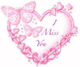 I Miss You Pink Heart :: Miss You :: MyNiceProfile.com