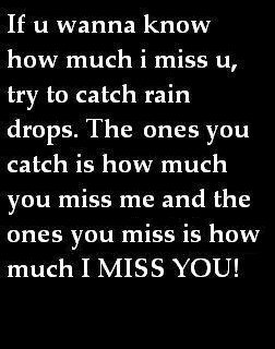 how much you miss me